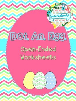 Spring Dot an Egg Speech Activity