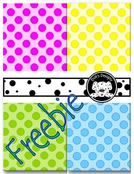 Spring Dots Background Paper