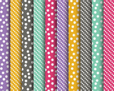 Spring Dots Papers, Dotted Papers, Digital Papers, Spring Paper Set #002