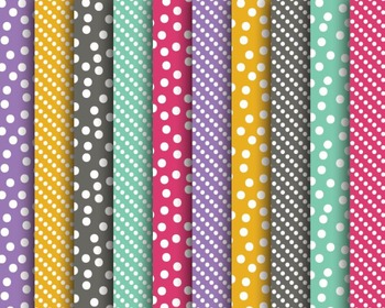 Spring Dots Papers, Dotted Papers, Digital Papers, Spring