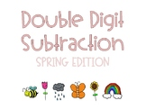 Spring Double Digit Addition Cards