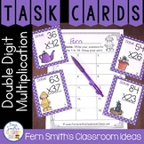 Spring Double Digit Multiplication Task Cards, Recording S