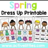 Spring Dress Up Printable for Kids