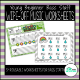 Spring Dry-Erase Music Worksheets for Young Beginners - Ba