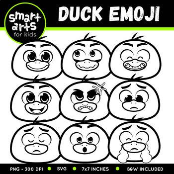 Spring Duck Emoji Clip Art