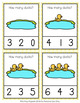 Spring Ducks Count and Clip Cards