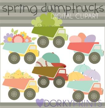 Spring Dump Truck Digital Clip Art