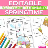 Spring EDITABLE Worksheets | Secret Picture Tiles