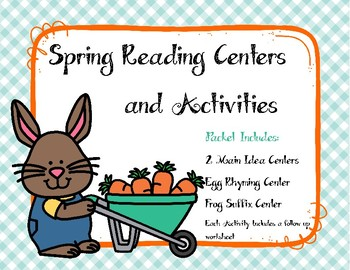 Spring Reading Centers: Main Idea, Rhyming & Suffixes
