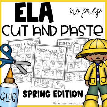 Spring ELA Cut and Paste NO PREP {Grades 1-3}
