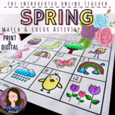 Spring ELA/ESL/EFL Vocabulary Coloring Activity   Print an