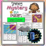 3rd Grade Spring Color by Code ELA Mystery Pictures: Third Grade ELA Skills
