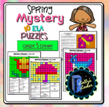 Spring ELA Mystery Puzzles Grade 5 edition