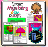 5th Grade Spring Color by Code ELA Mystery Pictures: Fifth