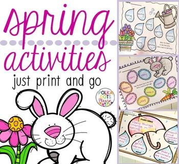 Spring ELA Printables for Reading, Writing, & Spelling