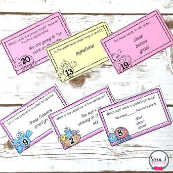 Spring ELA Task Cards