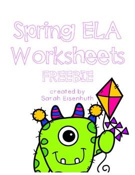 Spring ELA Worksheets Freebie