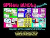 Spring ELA/Math Bundle - Smartboard, Center games, & Worksheets