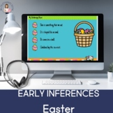 Spring Early Inferences (Boom Card Lesson) (Distance Learning)