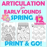 Spring Early Sounds Worksheets PRINT & GO