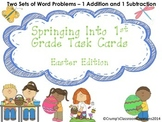 Spring - Easter 1st Grade Word Problems Task Cards or Scoot
