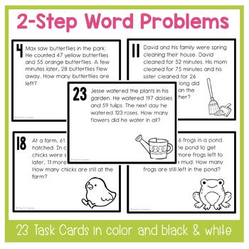 Spring & Easter 2-Step Word Problem Task Cards