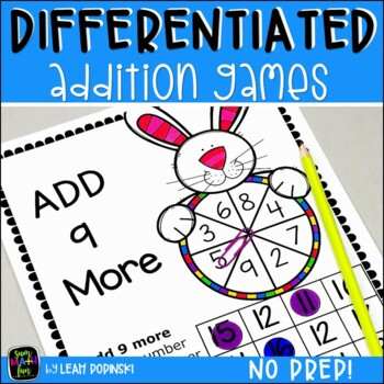 Spring Easter Activities - Addition Facts - Games No Prep