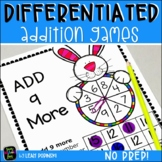Addition Games - No Prep Games for Easy Differentiation