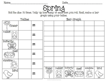 Spring Easter Activity Set K-1 Math Literacy Games Puzzles Writing