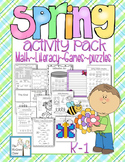 Spring Easter Activity Set K-1 Math Literacy Games Puzzles