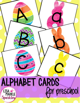 Spring Easter Alphabet Matching Activity for Preschool Centers