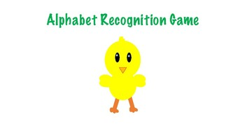 Spring / Easter Alphabet Recognition Game