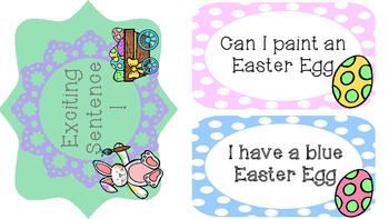 Spring Sentence Sort- Asking, Telling, Exciting Sentences