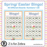 Spring / Easter Bingo - 30 Different Boards + Extras! { Z