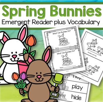 Spring Easter Bunnies Emergent Reader FREE