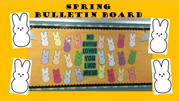 Spring Easter Bunny Bulletin Board