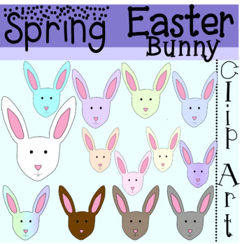 Spring Easter Bunny Clipart Colorful