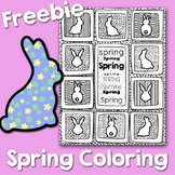 Spring Easter Bunny Coloring Page