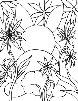 Spring Easter Bunny Coloring Sheet