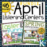 Spring, Easter & Bunny Listening Center with QR codes & Li