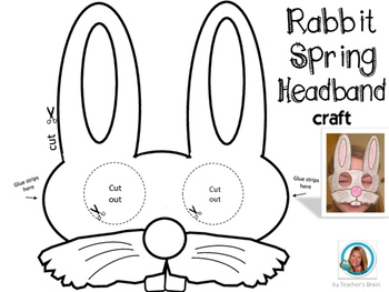 Easter Activities Craft Bunny Rabbit Mask & Headband SET (2 for 1)
