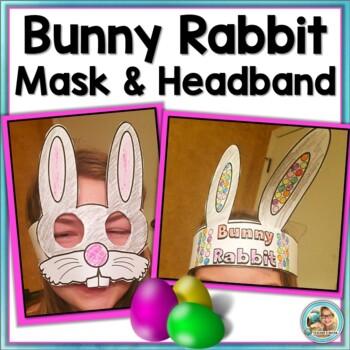 Easter Activities Craft Bunny Rabbit Mask & Headband SET (