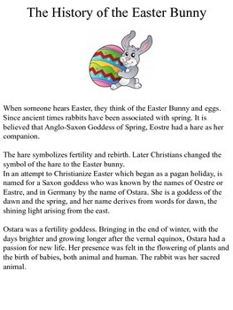 Spring- Easter Bunny Writing Prompt with Color Poem template