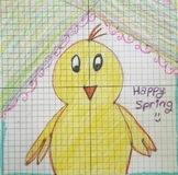 Spring / Easter Chick Coordinate Plane Fun Graphing Picture Activity