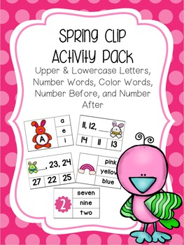 Spring & Easter Clip Card Activity