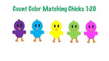 Spring / Easter Color/Number Matching 1-20