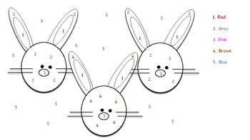 Spring / Easter Color by Number