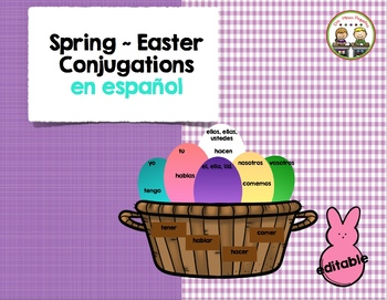 Spring/Easter Conjugations Spanish