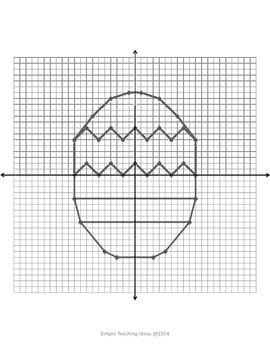 Spring & Easter Coordinate Graphing - 4 quad - No decimals