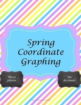 Spring & Easter Coordinate Graphing - 4 quad - No decimals